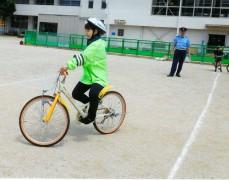 平成28年6月1日(水)今治市 亀岡小学校交通安全教室 自転車の乗り方指導