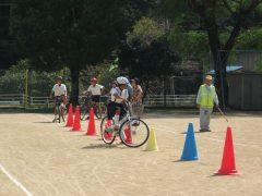 自転車教室 2019年9月25日 松野東小